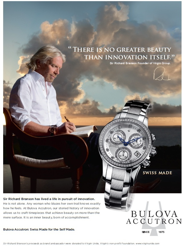 Bulova Richard Branson European Goldsmigh Kelowna