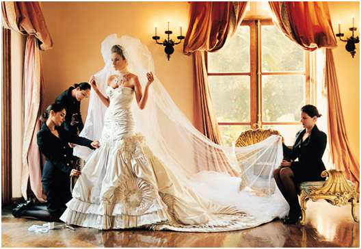 Melania Knauss Trump Wedding Gown