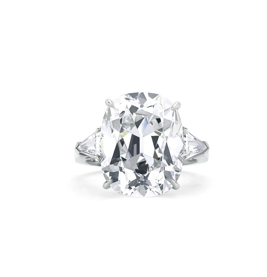 Forevermark 6 06 Ctw Solitaire Diamond Ring With Cushion Cut Forevermark Diamond Set In Platinum 900X931