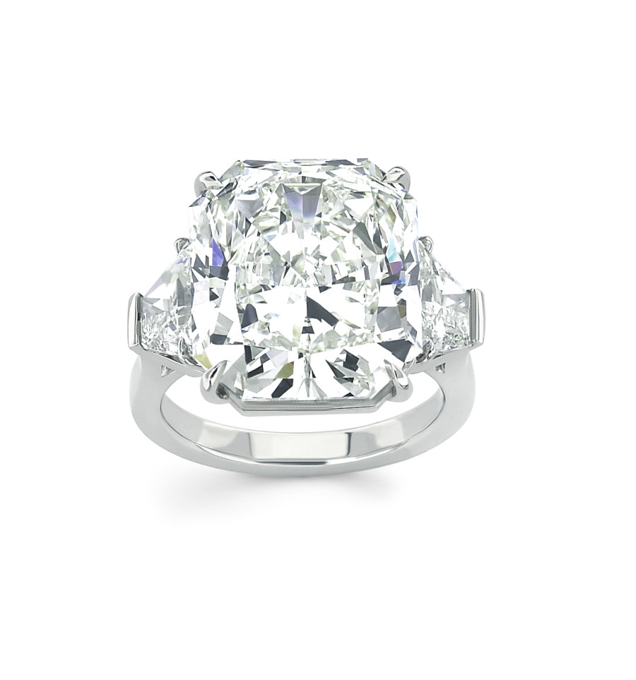 Forevermark Ring With 13 56 Ct Radiant Cut Forevermark Diamond Set In Platinum 900X963