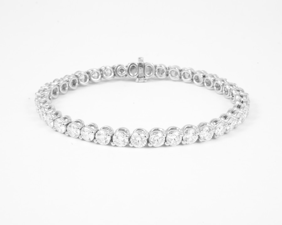 Forevermark By A Link 8 00 Ctw Diamond Line Bracelet With Round Brilliant Forevermark Diamonds Set In 18K White Gold 900X720
