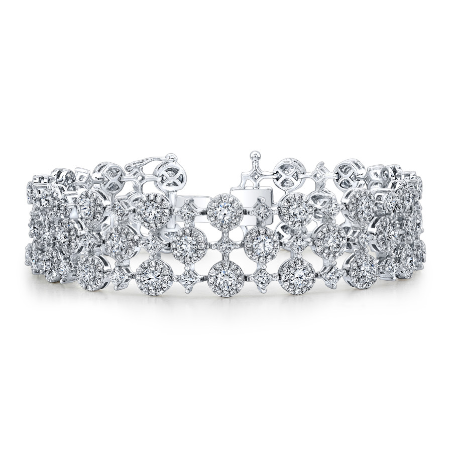 Forevermark By Natalie K The Center Of My Universe Three Row Bracelet With Round Brilliant Forevermark Diamonds Set In 18K White Gold 900X900