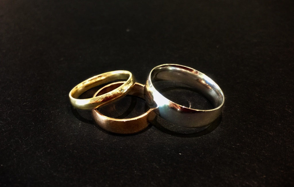 Gold Wedding Bands Rose Yellow White 1024X651