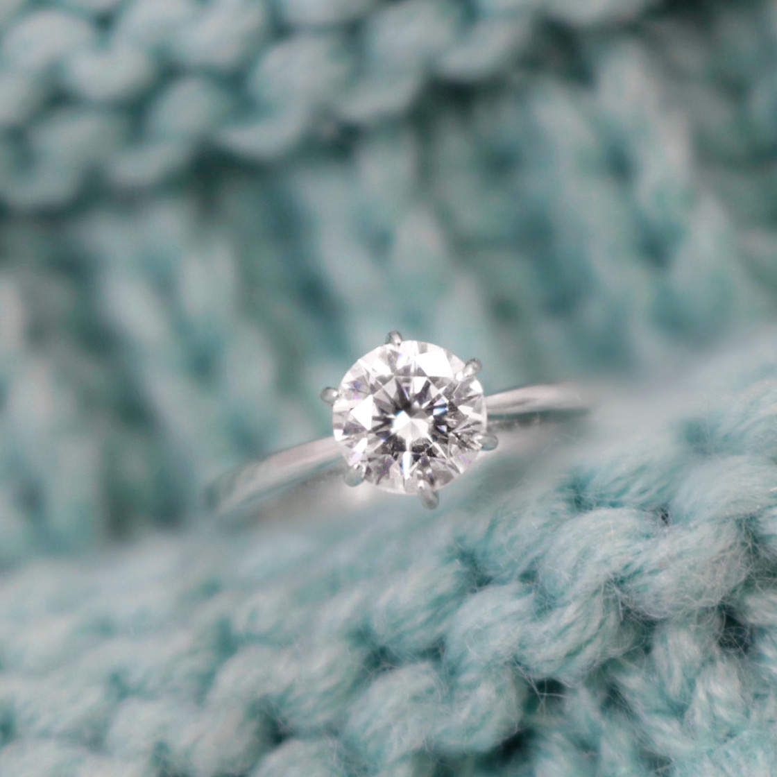 6 Claw Diamond Solitaire Engagement Ring